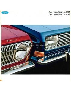 1967 FORD TAUNUS 12M / 15M PROSPEKT DEUTSCH