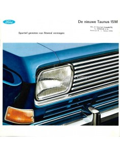 1966 FORD TAUNUS 15M BROCHURE DUTCH