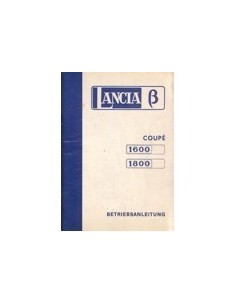 1974 LANCIA BETA INSTRUCTIEBOEKJE DUITS