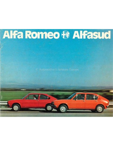 1976 ALFA ROMEO ALFASUD BROCHURE NEDERLANDS