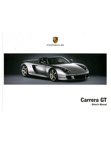 2003 PORSCHE CARRERA GT INSTRUCTIEBOEKJE ENGELS