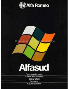 1977 ALFA ROMEO ALFASUD COLOUR CHART BROCHURE