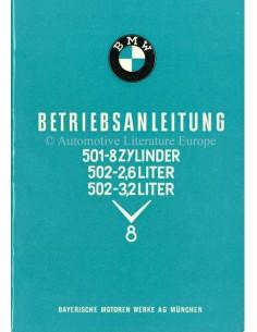 1957 BMW 501 502 V8 INSTRUCTIEBOEKJE DUITS