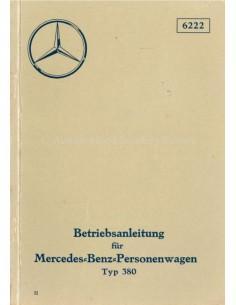 1934 MERCEDES BENZ TYPE 380 INSTRUCTIEBOEKJE DUITS