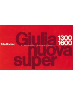 1975 ALFA ROMEO GIULIA NUOVA SUPER 1.3 / 1.6 BROCHURE NEDERLANDS