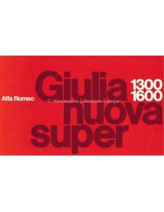 1974 ALFA ROMEO GIULIA NUOVA SUPER 1.3 / 1.6 BROCHURE NEDERLANDS