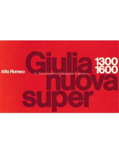 1976 ALFA ROMEO GIULIA NUOVA SUPER 1.3 / 1.6 BROCHURE ENGLISH