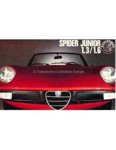 1972 ALFA ROMEO SPIDER JUNIOR 1.3 1.6 BROCHURE ITALIAANS