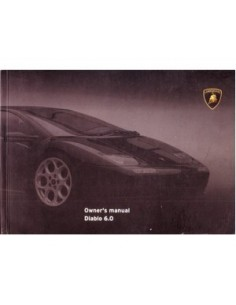 2000 LAMBORGHINI DIABLO 6.0 OWNERS MANUAL