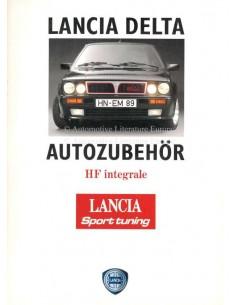 1989 LANCIA DELTA HF INTEGRALE AUTOZUBEHÖR PROSPEKT DEUTSCH