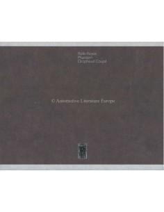 2006 ROLLS ROYCE PHANTOM DROPHEAD COUPÉ HARDBACK BROCHURE ENGLISH