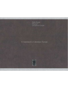 2006 ROLLS ROYCE PHANTOM DROPHEAD COUPÉ HARDCOVER PROSPEKT ENGLISCH