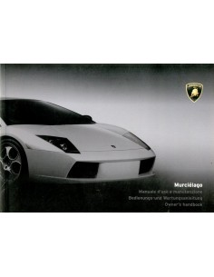2001 LAMBORGHINI MURCIELAGO OWNER'S MANUAL IT - DE - GB
