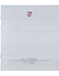 1987 PORSCHE 911 CARRERA / TURBO BROCHURE ENGLISH