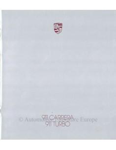 1987 PORSCHE 911 CARRERA / TURBO PROSPEKT ENGLISCH