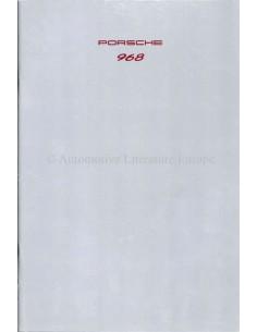 1992 PORSCHE 968 PROSPEKT DEUTSCH