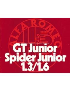 1973 ALFA ROMEO 1300 / 1600 GT JUNIOR & SPIDER BROCHURE DUTCH