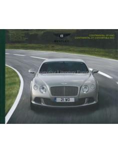 2012 BENTLEY CONTINENTAL GT & CONVERTIBLE GT W12 HARDCOVER PROSPEKT DEUTSCH