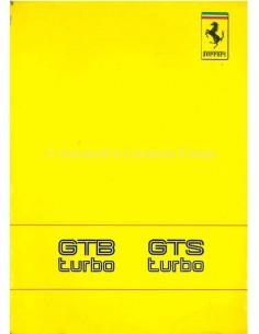 1989 FERRARI TURBO GTB & GTS OWNERS MANUAL 551/89