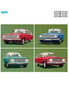 1969 FORD TAUNUS 12M / 15M / 17M / 20M TURNIER BROCHURE GERMAN