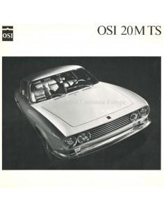 1968 OSI-FORD 20M TS BROCHURE DUITS