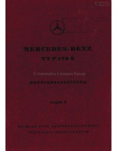1950 MERCEDES BENZ 170 S OWNERS MANUAL GERMAN