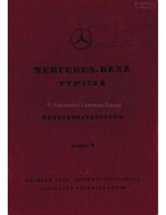 1950 MERCEDES BENZ TYPE 170 S INSTRUCTIEBOEKJE DUITS