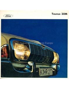 1965 FORD TAUNUS 20M BROCHURE NEDERLANDS