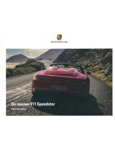 2019 PORSCHE 911 SPEEDSTER HARDCOVER PROSPEKT NIEDERLÄNDISCH