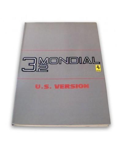 1986 FERRARI 3.2 MONDIAL INSTRUCTIEBOEKJE USA VERSIE 397/85