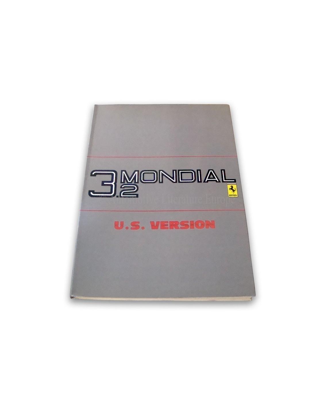 1986 ferrari 3 2 mondial owner 39 s manual u s version 397 85. Black Bedroom Furniture Sets. Home Design Ideas