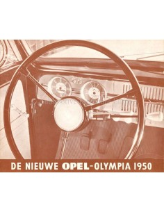 1950 OPEL OLYMPIA PROSPEKT NIEDERLÄNDISCH