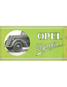 1937 OPEL OLYMPIA BROCHURE DUTCH