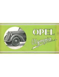 1937 OPEL OLYMPIA BROCHURE NEDERLANDS