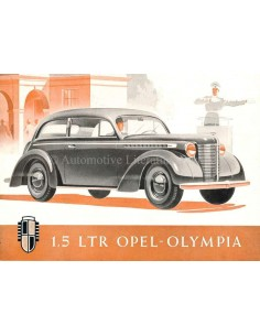 1938 OPEL OLYMPIA BROCHURE DUITS