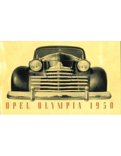 1950 OPEL OLYMPIA BROCHURE FRENCH