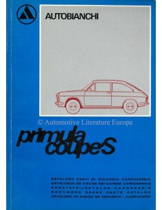 1966 AUTOBIANCHI PRIMULA COUPE S SPARE PARTS CATALOG BODYWORK