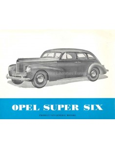 1939 OPEL KAPITÄN PROSPEKT NIEDERLÄNDISCH