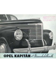 1939 OPEL KAPITÄN BROCHURE DUTCH