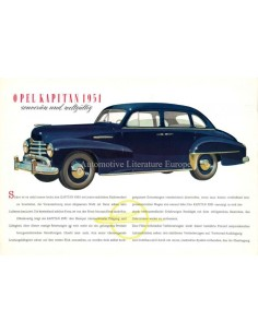 1951 OPEL KAPITÄN BROCHURE GERMAN