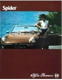 1981 ALFA ROMEO SPIDER BROCHURE DUTCH
