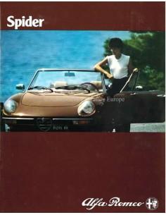1981 ALFA ROMEO SPIDER PROSPEKT NIEDERLÄNDISCH