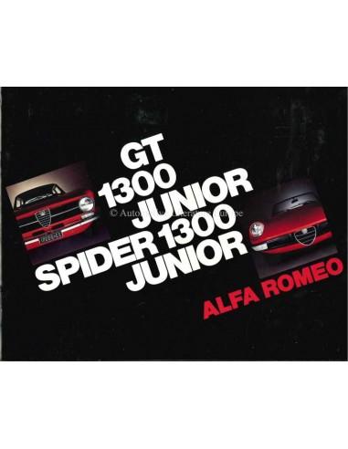 1971 ALFA ROMEO 1300 GT JUNIOR & SPIDER BROCHURE DUTCH