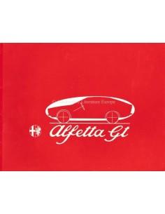 1974 ALFA ROMEO ALFETTA GT BROCHURE DUTCH