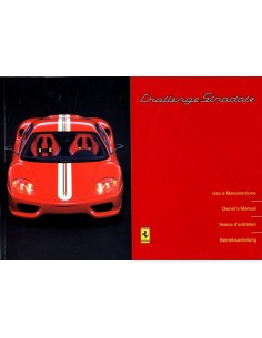 2003 FERRARI CHALLENGE STRADALE OWNERS MANUAL 1929/03