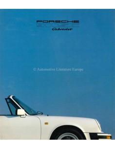 1980 PORSCHE 911 SC CABRIOLET BROCHURE GERMAN