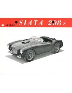 1953 SIATA 208 S PROSPEKT ENGLISCH