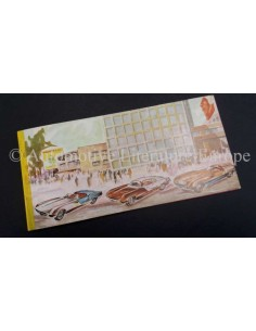 1955 ABARTH SPYDER / BERLINA 1100 ABARTH 207/A / 208/A BROCHURE ITALIAANS