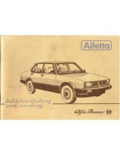 1983 ALFA ROMEO ALFETTA BETRIEBSANLEITUNG DEUTSCH