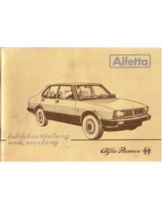 1983 ALFA ROMEO ALFETTA OWNERS MANUAL HANDBOOK GERMAN
